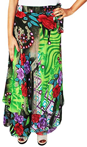 India Saree (Indian Skirts Beach Long Wrap Around Womens India Clothing (Green))