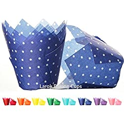 Tulip Cupcake Liners (Polka Dark Blue) | 100 count