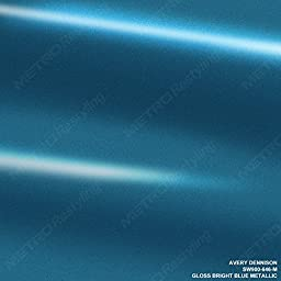 Avery SW900-646-M GLOSS BRIGHT BLUE METALLIC 5ft x 6ft (30 Sq/ft) Supreme Vinyl Car Wrap Film