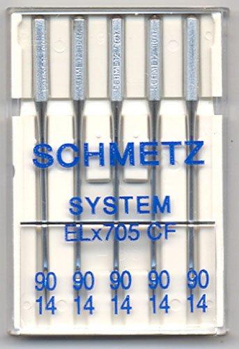 Schmetz Elna Serger Chrome Needles Sz90/14 5 pk