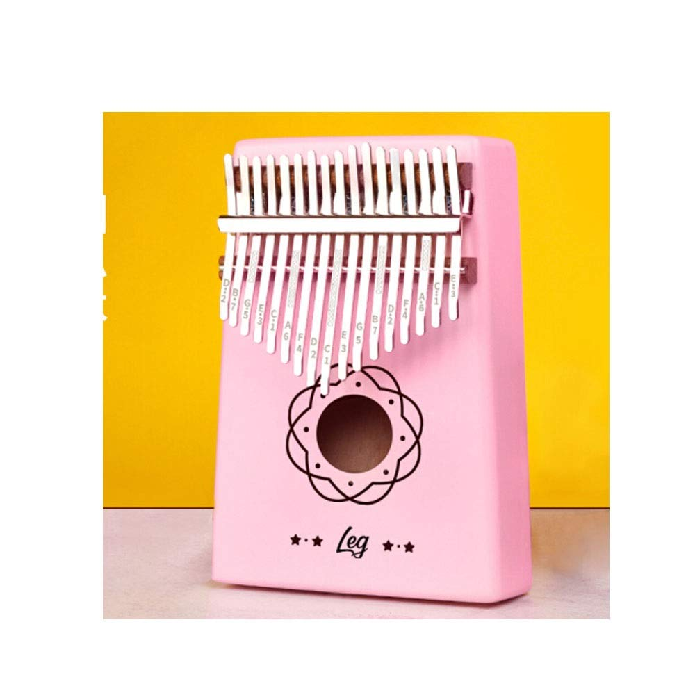 Youshangshipin Thumb piano, stylish and exquisite 17-key thumb piano for music lovers and beginners gifts (pink gifts: portable bag, conditioning hammer, cleaning cloth) Classical style