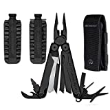 Leatherman Wave Black Oxide Finish Multi Tool with Nylon MOLLE Sheath, & 42 piece Bit Kit