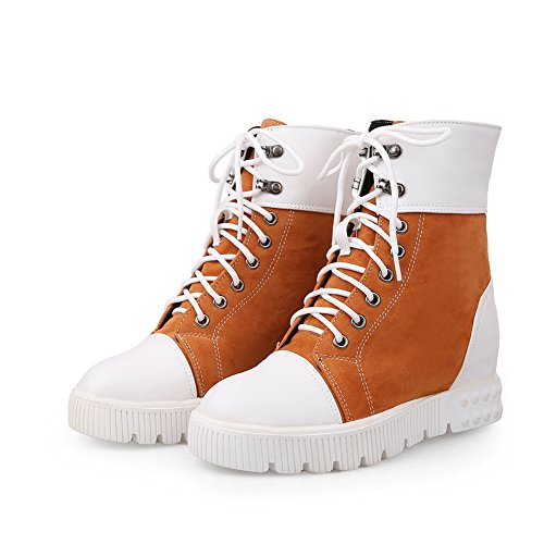 Thick Material Heel Snow Bottom Color Matching BalaMasa Soft Orange Boots Ladies qHU8t