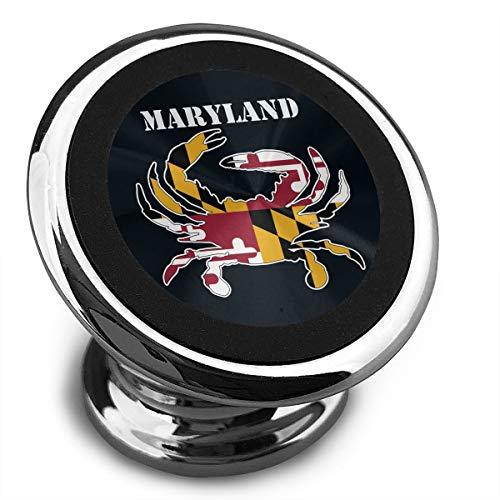 Maryland Flag Crab Printed Mobile Phone Support Magnetic Car Holder
