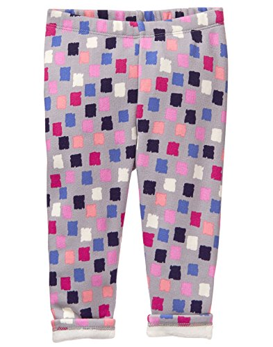 Gymboree Girls' Toddler' Cozy Fleece Legging, Square Print, - Fleece Pants Girls Gymboree