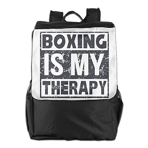 SHUAIS Boxing Is My Therapy School Travel Laptop Shoulders Backpack Bag (Guardian Side Box Boards)