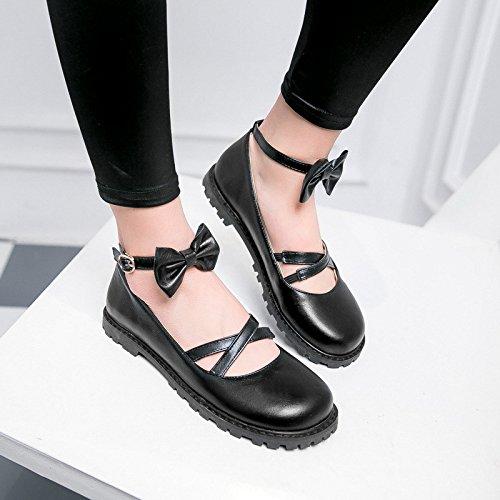 Doux printemps taille Bow-tie code, l'enfant aux chaussures chaussures unique black