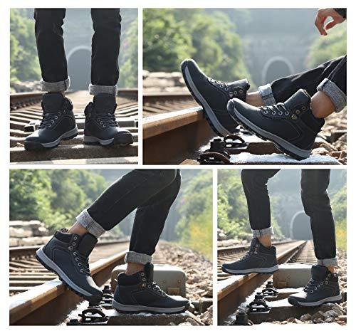 Scarpe Stivali Caviglia 2 Neve Uomo A7445 Piatto Sportive Boots Boxing Pelliccia Da Stivaletti Invernali Caloroso Allineato Ax Escursionismo YqSxpHwCS
