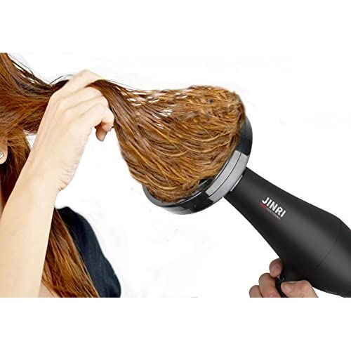 1875w Professional Salon Hair Dryer,Negative Ionic Hair Blow Dryer,AC Motor Infrared Heat Low Noise Hair Dryer,with Concentrator,Diffuser & Comb,ETL Certified (black)