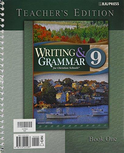 Writing & Grammar for Christian Schools, Teacher's Edition