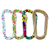 Fusion Climb I-Clip 3.25'' Aluminum Novelty Design Compact Carabiner Keychain Backpack Snap Hook Multi Color 4-Pack