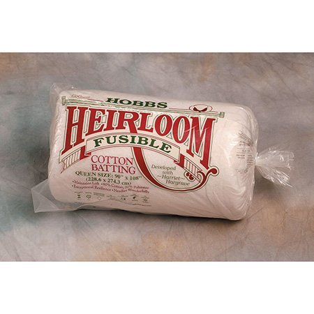 Hobbs Heirloom Cotton Fusible Queen Size (20 Cotton Batting)