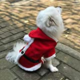 Enjoying Doggy Christmas Coat Puppy Cat Dog Christmas Costume with 4 Legs Hoodie - Extra large