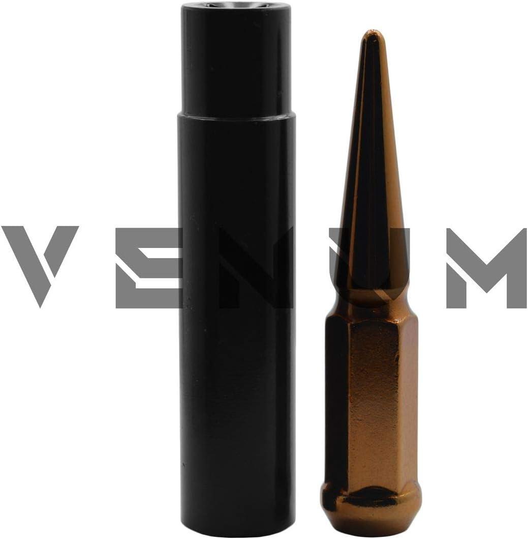 1 Key Works With 1999-2020 Silverado Sierra 1500 6x5.5 6x139.7mm Aftermarket Wheels Steel M14x1.5 Thread Pitch 24 Pc Candy Orange Spike Lug Nuts Powder Coated 4.5 Tall