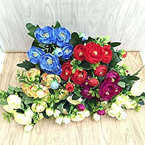 FlowersMagnate 2017 Artificial Flower Camellia Flowers Bouquet for Home Decor and Wedding Decorations 103