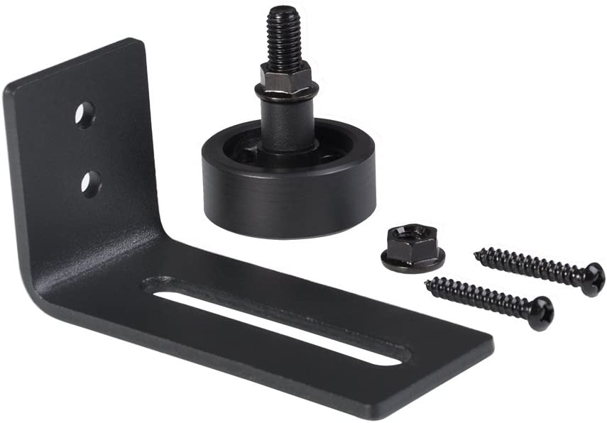 Guía de rodillo para puerta de baño, puerta corredera para colgar en la parte inferior de la pared ajustable Canal de suspensión rueda: Amazon.es: Bricolaje y herramientas