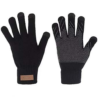 Amazon.com: Winter Touchscreen Knit Gloves Thick Fleece