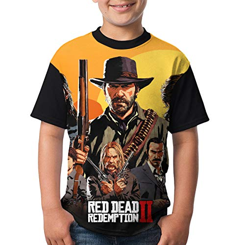 RED_DEAD_REDEMPTION 2 Child Boy Girl's Short Sleeve Round Neck Funny Tank T Shirts 32