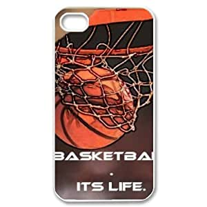 basketball is life Personalized Cover Case with Hard Shell Protection for Iphone 4,4S Case lxa#287405