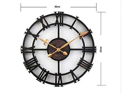 WU Muebles para el hogar Decoraciones de Pared 17 Pulgadas Mesa Colgante Reloj Digital Industrial Retro