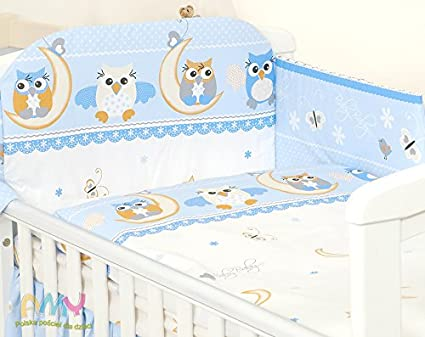 Teddy//OWL//Marine//Cars Pattern and More Bumper 5 pc Baby Bedding Set for COT 120X60 OR COT Bed 140X70cm Inc COT Bed 140X70, Marine Duvet+Pillow+Duvet Cover+Pillow CASE