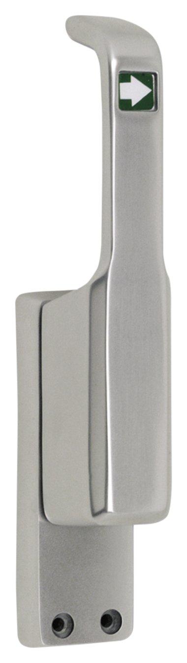 links T/ürtreibriegel aufliegend Pfeil schwer Hub 23 mm silber eloxiert ; 1 St/ück