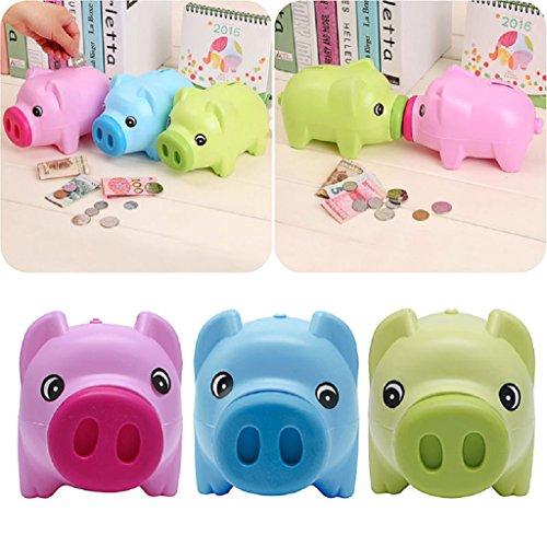 Toy Plastic Money : Scastoe plastic piggy bank coin money cash collectible