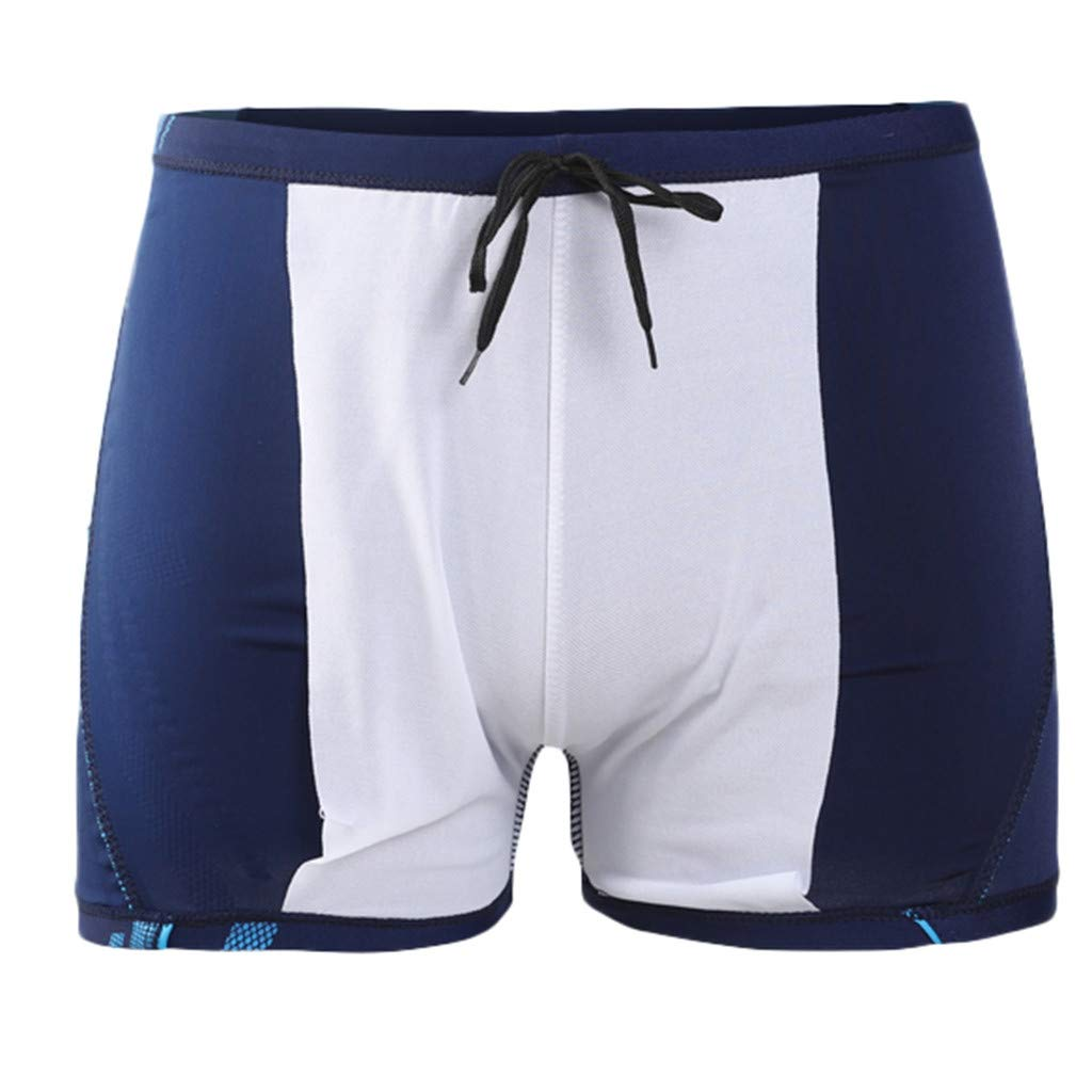 942d9fef80f6 Amazon.com  Men Fashion Letter Print Nylon Simming Trunks