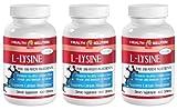 L-lysine liquid supplement - L-LYSINE 1000MG - important for bones and connective tissues (3 Bottles)