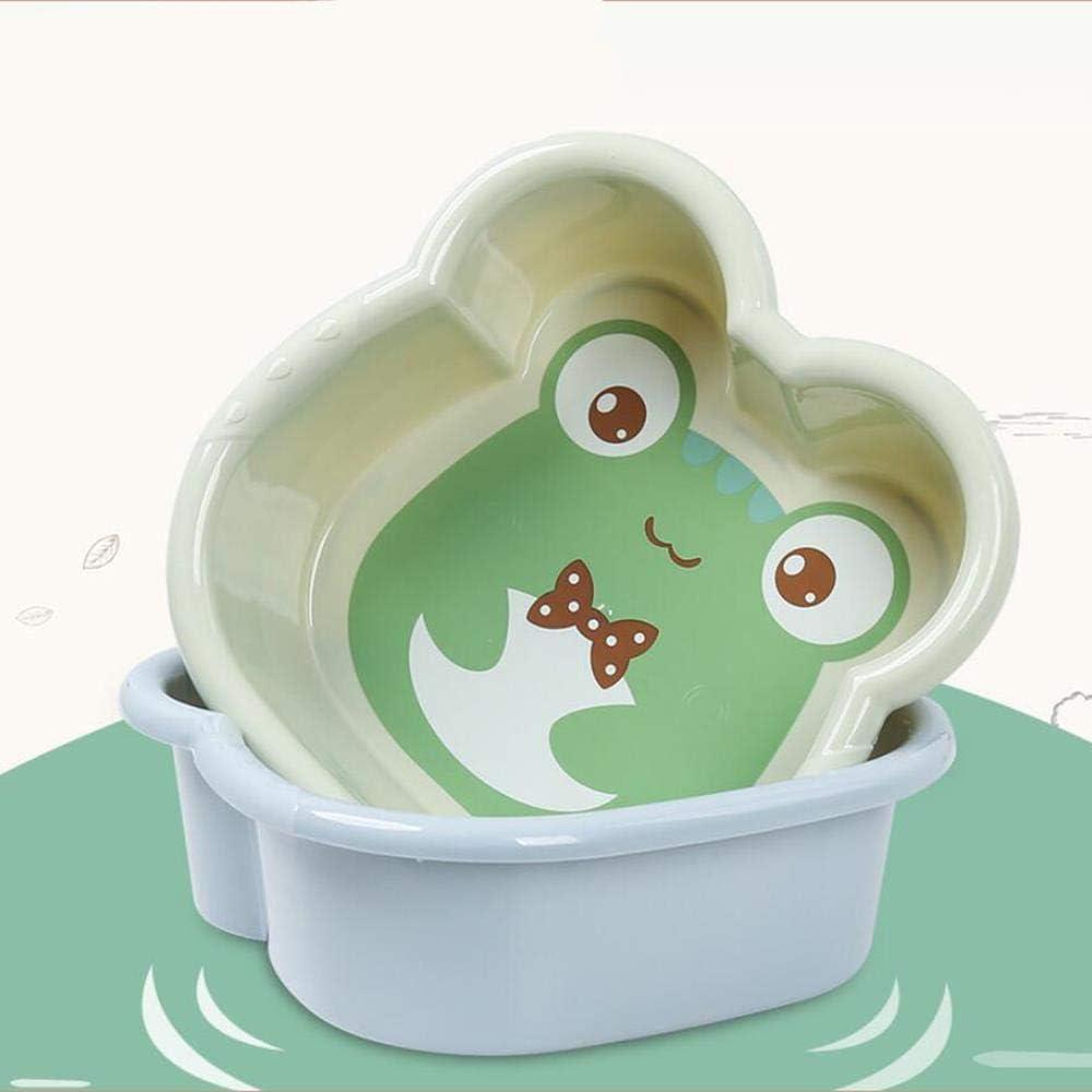 S-Verde Cuenca de pl/ástico caliente 1PC Lavabo de lavado lindo beb/é de la historieta de ba/ñera ni/ño reci/én nacido lavado de cara del pie Culo Ba/ñera beb/é Pila 10300E