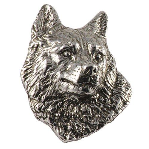 Husky Dog Pewter Lapel Pin, Brooch, Jewelry, D098