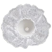 "Darice 35021-1 9"" Lace Collar Bouquet Holder, White, 10"""