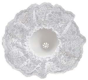 Darice 35021-1 9-Inch Lace Collar Bouquet Holder, White