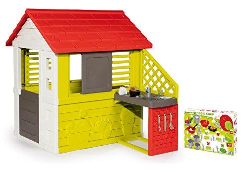 Spielhaus Mit Sommerküche : Ideal smoby spielhaus naturhaus mit sommerküche extra ecoiffier