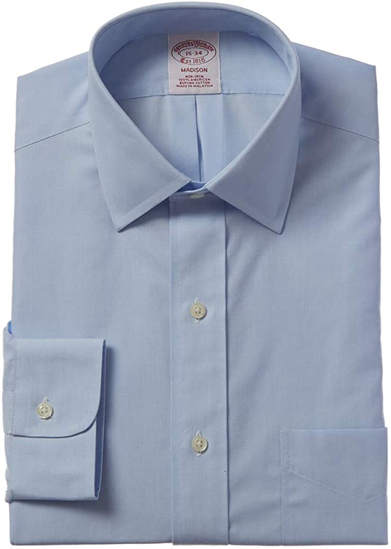 Cotton Brothers Spread Collar Dress Shirt in Blue
