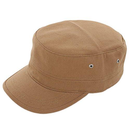 Duolaimi Army Cap for Unisex Adult (Khaki)