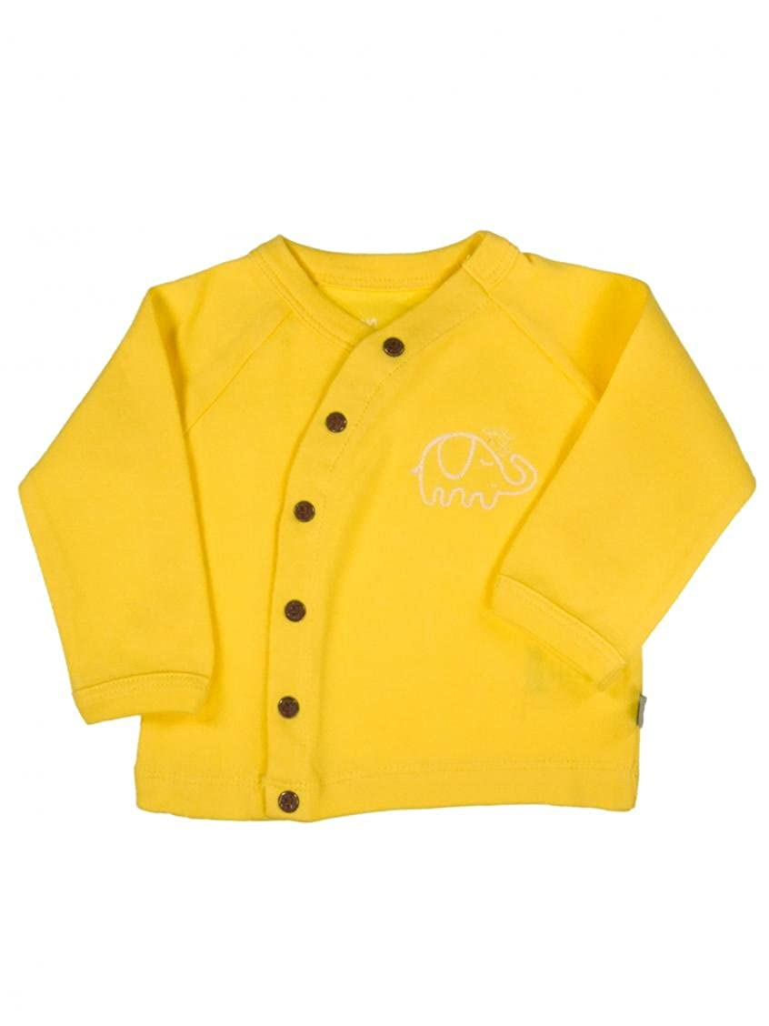 Unisex Baby Neutral Organic Cotton Kimono Top by Finn + Emma - Yellow - 9-12 Mths U01-0400e9-12