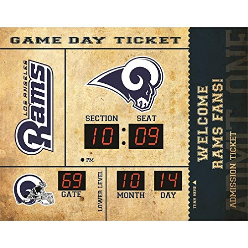 - Evergreen NFL Los Angeles Rams Clock14x19 Scoreboard, Team Colors, One Size