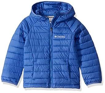 Columbia Girls Powder Lite Hooded Jacket, Arctic Blue, XX-Small