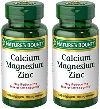 Nature's Bounty Calcium-Magnesiuim-Zinc, 200 Caplets