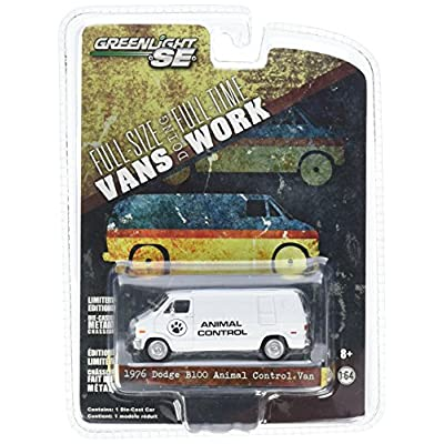 1976 Dodge B100 Animal Control Van Hobby Exclusive 2014 Greenlight Collectibles Limited Edition 1:64 Scale Die-Cast Vehicle: Toys & Games