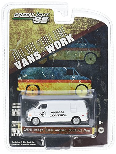 1976 Dodge B100 Animal Control Van Hobby Exclusive 2014 Greenlight Collectibles Limited Edition 1:64 Scale Die-Cast Vehicle from Greenlight