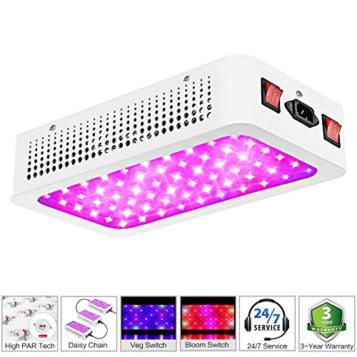 MORSEN 600W LED Grow Light, Full Spectrum Growing Lamp for Indoor Plants with Daisy Chain&Double Switch (60pcs 10W LEDs)