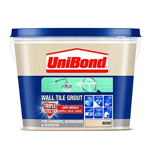UniBond 1617923 Triple Protect Anti-Mould Wall Tile Grout - Beige by Unibond