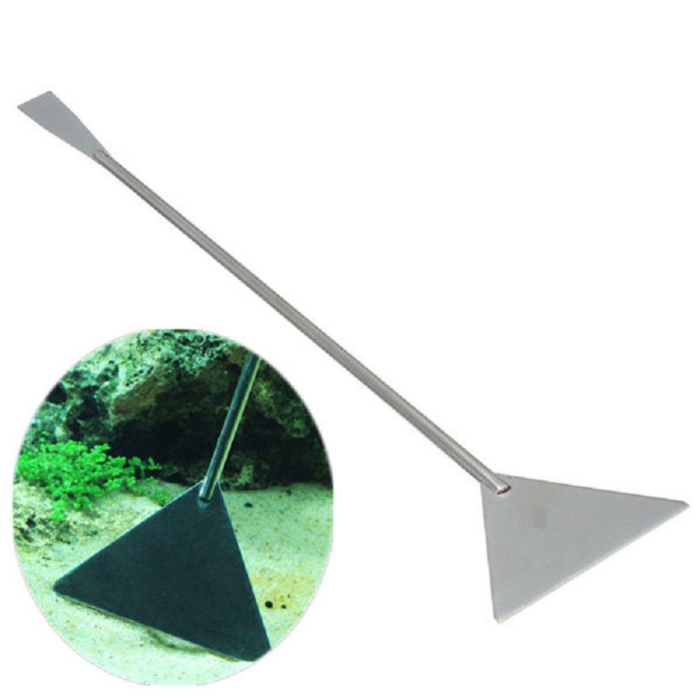 POPETPOP 32 cm Acuario Espá tula Herramienta Acero Inoxidable Plantas acuá ticas Juego de Herramientas Aquascaping para acuarios