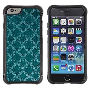Suave TPU Caso Carcasa de Caucho Funda para Apple Iphone 6 PLUS 5.5 / Teal Church Christian Pattern Indian / STRONG