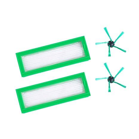neutop verde HEPA filtro y lado cepillo Kit de repuesto para aspiradoras Vorwerk Kobold VR200 vacío