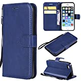 Best Wallet Cases For IPhone SEs - NowTH iPhone5/5S/SEs Multi Function Case,[Magnetic Rear Shell][Humanized Card Review