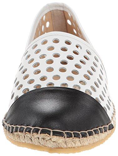 White Espadrille Randall Black Perforated Loeffler Women's Sandal Mara TaxwqB4