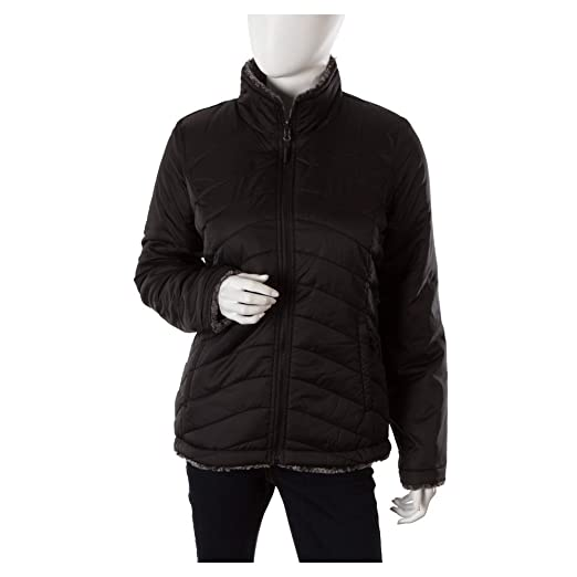 1989d2dfdfa4 ... top quality amazon the north face womens mossbud swirl reversible  jacket tnf black tnf black tipped discount code for ...